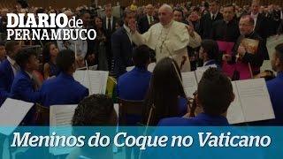 Orquestra Cidad� Meninos do Coque se apresenta para o Papa