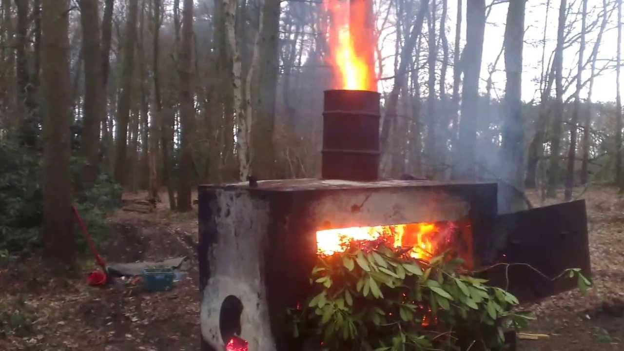 Печь для мусора из кирпича