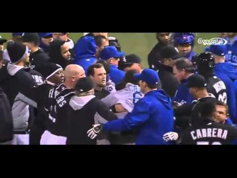 Jeff Samardzija fight - Chicago White Sox vs. Kansas City Royals - Yordano Ventura