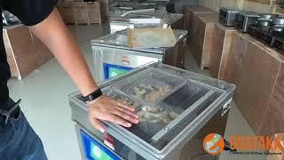 Demo Vacuum Packaging Pizza dengan Vacuum Machine Guataka - Part 2