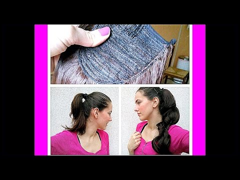 Synthetic Ponytail Hair Extensions from ebay (4$) REVIEW