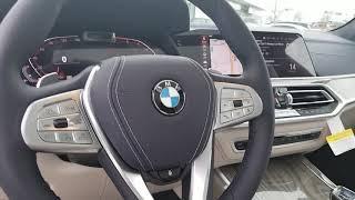 2019 BMW X7 in Arctic Metallic with Ivory White/Night Blue Bicolour Leather Interior