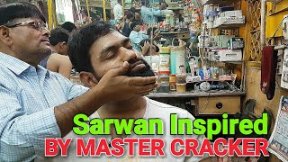 Intense ASMR head massage and neck cracking by Indianbarber