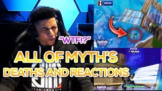 All Of Myth's Deaths And Reactions From The Ninja Vegas Fortnite Event!