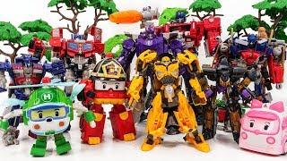 Transformer Robot Toys~! Optimus Prime, Bumblebee, Squeeks GO GO GO! Defeat Megatron! - Toysplaytime