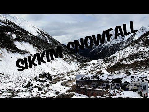 Heavy Snow Fall in Sikkim (Changu Lake)