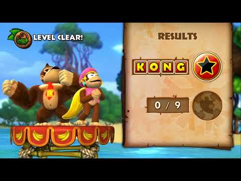 Donkey Kong Country Tropical Freeze 100% Walkthrough - World 1-1, 1-2 (KONG Letters & Puzzle Pieces)