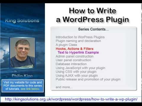 0 131 Text to Hyperlink Filter Example (Video)   How to Write a WordPress Plugin Series