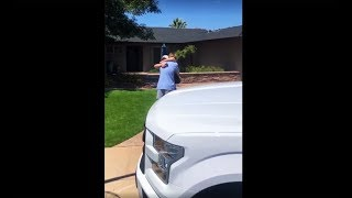 Great kid is surprised with a new truck, dialed in by LiftedTrucks.com shop!