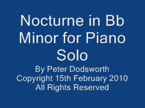 Nocturne in Bb Minor for Piano Solo