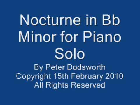 Nocturne in Bb Minor for Piano Solo