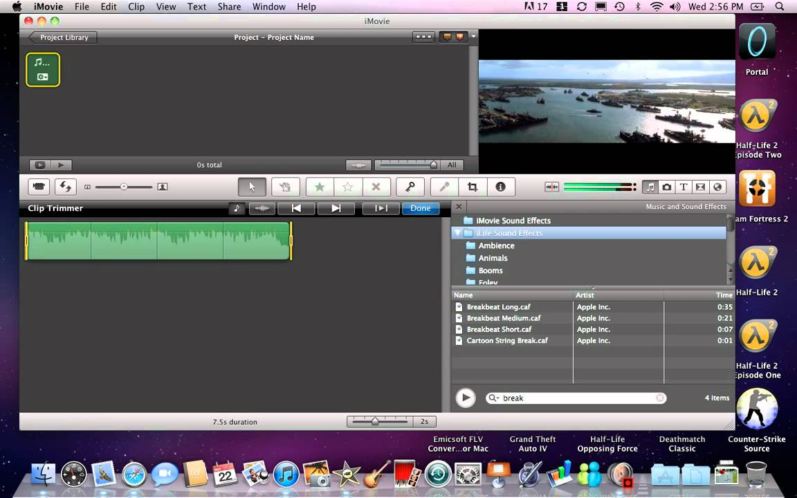 Imovie pictures not showing full picture