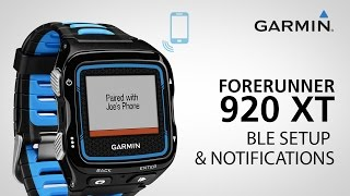 Garmin Forerunner 920XT: Pairing with Your Smartphone