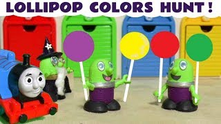 Learn Colors with Play Doh Lollipops, funny Funlings and Thomas The Tank Engine TT4U