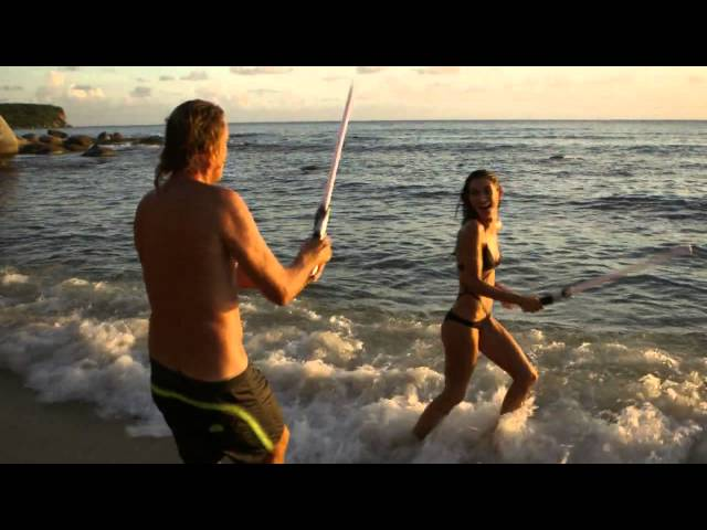 Behind The Victoria's Secret Swim Special: Light Saber Duel
