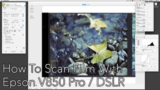 DIY: Developing and Scanning Film At Home Part 4 - How to scan w/ Epson V850 Pro & DSLR