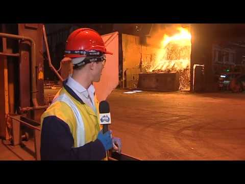 WIN News at the Port Kembla Steelworks