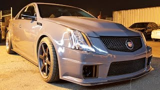 New Mexico STREET RACING - 800hp CTS-V and a REAR ENGINE Civic?!