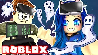 Ghost Hunting in a Roblox Mansion!
