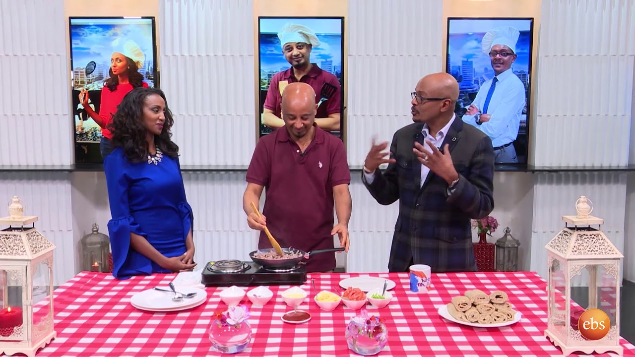 Ethiopia Famous Director and Actor Temesgen Afework Cooking with Sunday with EBS