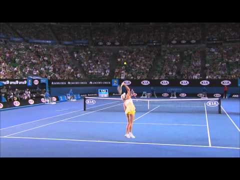 Wozniacki serve fail - 2014 Australian Open