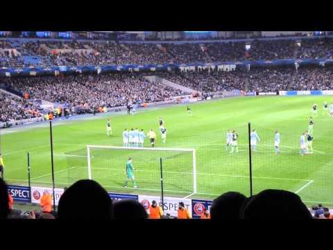 06-11-12 Manchester City - Ajax free kick Siem de Jong + save Joe Hart