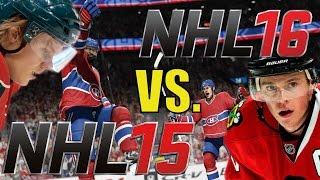 Is NHL 16 BETTER THAN NHL 15? Game Comparison