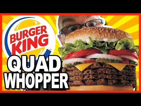 Burger King ★ Secret Menu Item ★ QUAD WHOPPER w Bacon and Cheese - Food Review & Drive - Thru Test