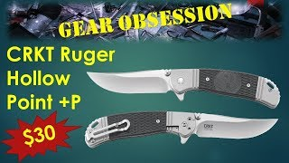 AWESOME!!! CRKT Ruger Hollow Point +P