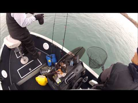 Detroit River Walleye Fishing April 6th 2013