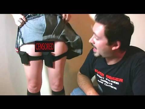 Short Skirt, no Pockets! (also, no panties!?)