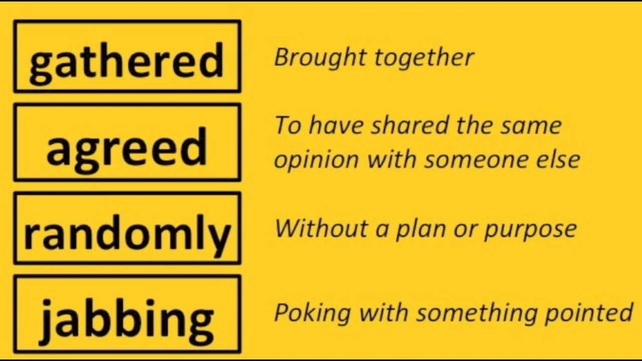 English Vocabulary - Word Meanings Part 4 of 5 - Grades 1