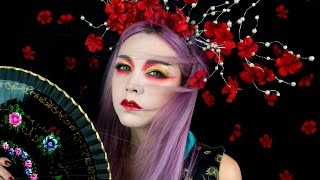 Modern Geisha make up look