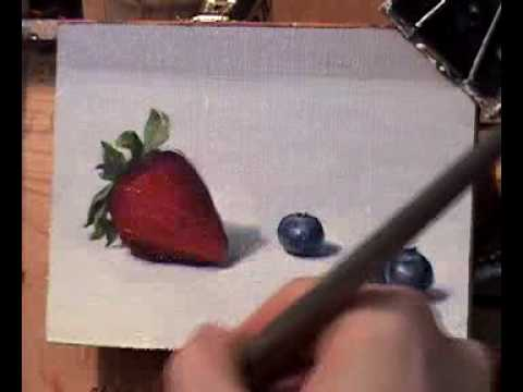 ABBEY RYAN - Strawberry & Blueberries Painting