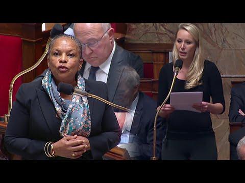 Marion Maréchal-Le Pen - question à Christiane Taubira 24-11-2015