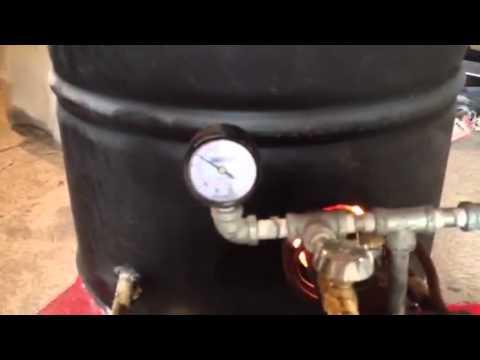 Quemador de gas casero