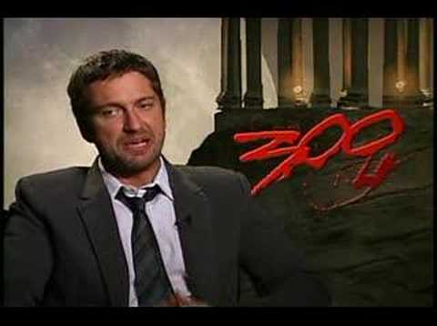 300 Gerard Butler interview Video