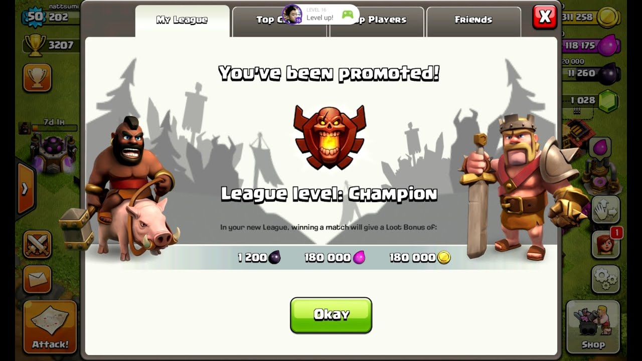 Facebook - http://www.facebook.com/nattsumigaming Twitter - http://twitter.com/nattsumigaming Town Hall Snipe FTW! More information on my journey to Champion...