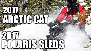 2017 Arctic Cat and 2017 Polaris Snowmobiles