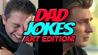 YOU LAUGH, YOU LOSE! DAD JOKES - ART EDITION! - Drawing CRYING CAPTAIN AMERICA!