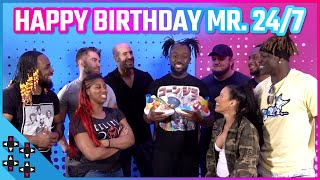 The UpUpDownDown Crew surprises KOFI KINGSTON for his birthday!
