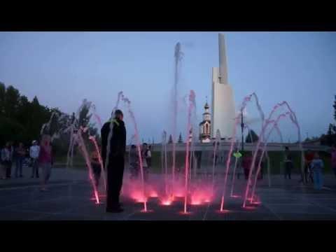 18.06.2015. Киров ,парк Победы,фонтан вечером 1