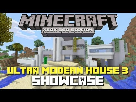 Minecraft Xbox 360: Ultra Modern House 3 Showcase! + Download!