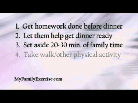 Kids Health Minute - Exercise Ideas For Working Parents