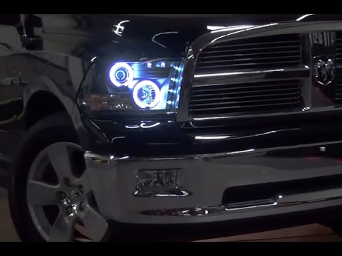 Spyder Halo Projector Headlights with LEDs Installation on Dodge Ram