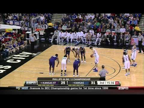 2012-13 Big 12 Championship #7 Kansas vs #11 Kansas State