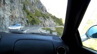 Ferrari 550 Maranello driving in the alps
