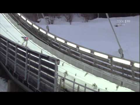 Manuel Fettner - Wypięta narta - MŚ Predazzo - 02.03.2013