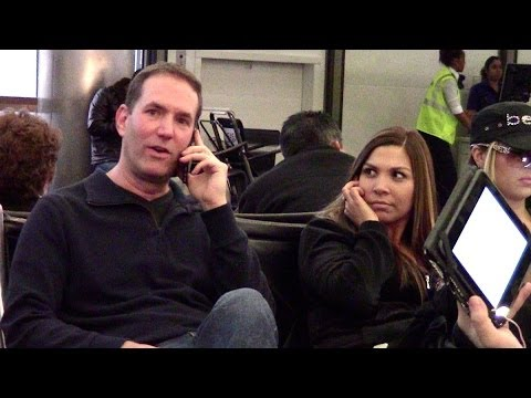 Cell Phone Crashing At The Airport! video