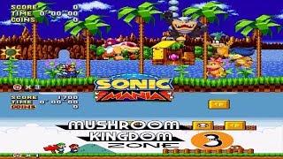 Mario Mania In Mushroom Kingdom Sonic Mania